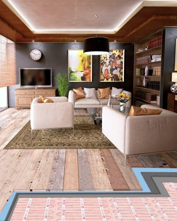 underfloor heating under wooden floor